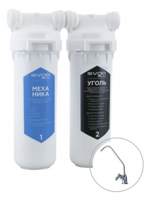 "Filter ""SVOD-BLU"" for tap water with a high content of organic compounds 2-MC (k) + a tap for purified water"