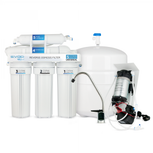 "The reverse osmosis filter ""SVOD-BLU"" UNIVERSAL (RO-5) with a pump"